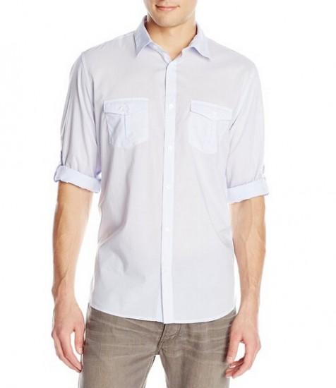 好价可直邮!Calvin Klein 男士100%纯棉长袖衬衫