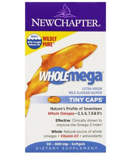 历史最低价!New Chapter 新章顶级阿拉斯加野生鲑鱼油500mg*90粒装
