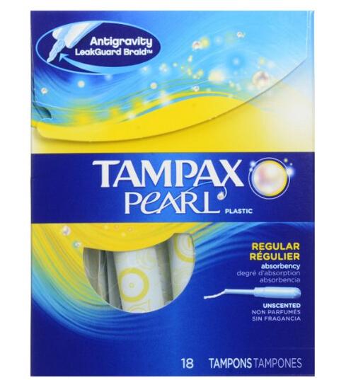 可直邮!Tampax 美国丹碧丝珍珠塑管卫生棉条18支