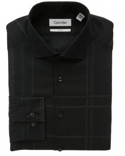 美亚直邮新低!Calvin Klein 男士修身免熨长袖衬衫