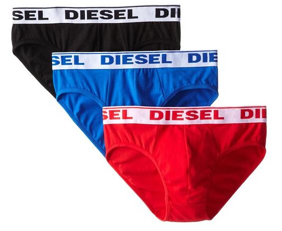 混色款再刷新低!Diesel 迪赛男士弹力三角内裤3条装