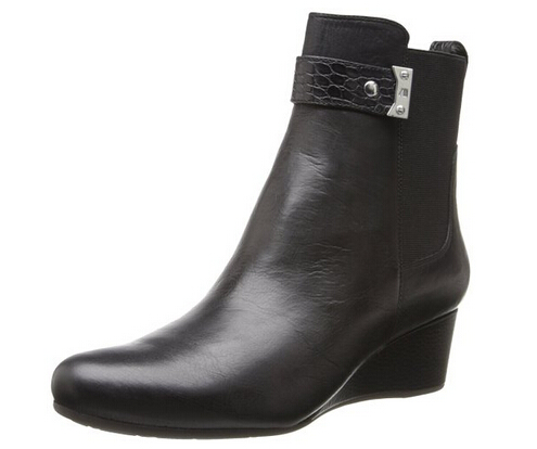 再降新低可直邮!Rockport 乐步女士真皮坡跟短靴