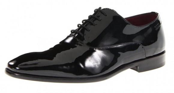 近期好价!HUGO BOSS 雨果博斯黑标系列男士漆皮正装皮鞋