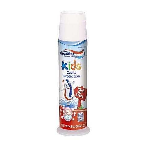 补货新低价!Aquafresh 家护2岁以上儿童牙膏130g*6支装