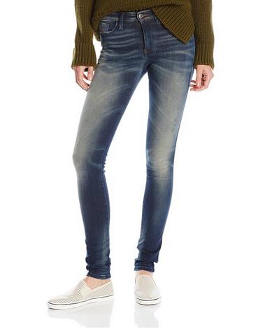 仅剩1件,Diesel 0834Q 迪赛Skinzee系列女士紧身牛仔裤