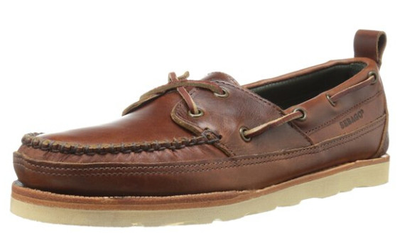 两色新低价!SEBAGO 仕品高男士V底系带牛津船鞋