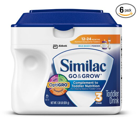 囤货!Similac Go & Grow Stage 3 美国雅培金盾3段配方奶粉624g*6