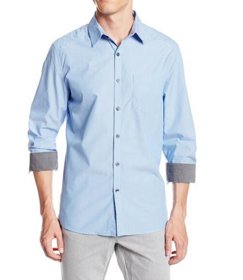 两色降至新低,Kenneth Cole 男士纯棉长袖衬衫