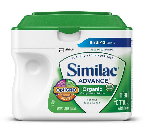 好价再来!美国雅培 Similac 金盾一段有机奶粉658g*6罐
