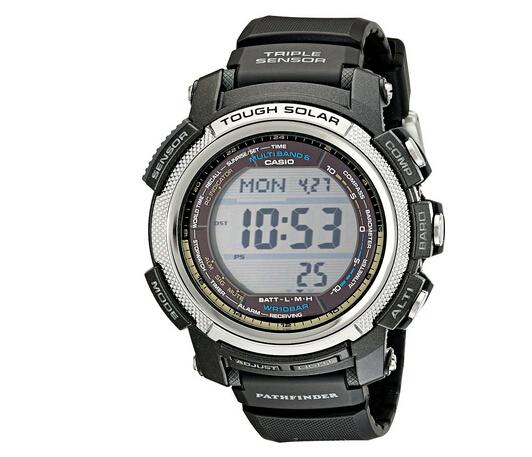 用券最低!CASIO PAW2000-1 卡西欧探路者系列六局电波太阳能登山表