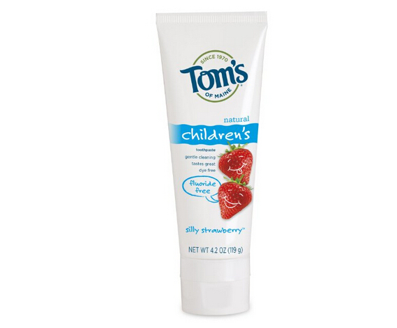 两款新低价!Tom's of Maine 儿童天然草莓味无氟牙膏119g*3支装