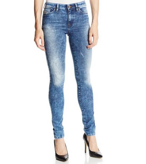 降至历史最低!DIESEL 0829F 迪赛女士紧身低腰牛仔裤