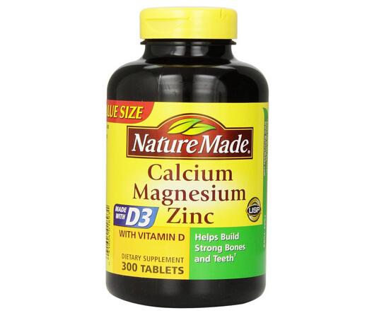 又降1刀小白菜!Nature Made 莱萃美钙镁锌D3成人钙片300片