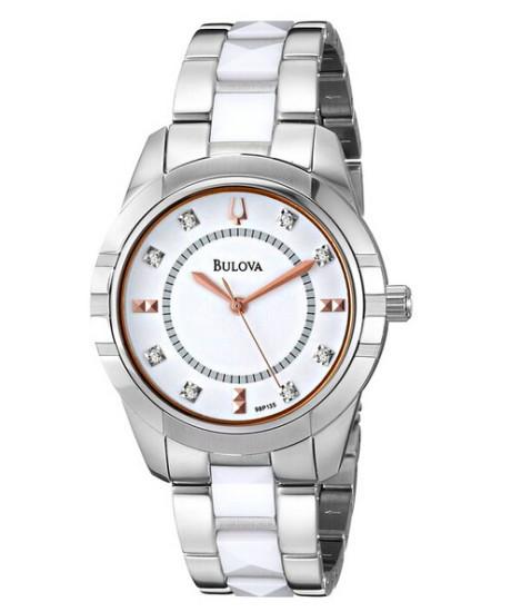 历史新低!Bulova 98P135 宝路华女士时尚镶钻手表