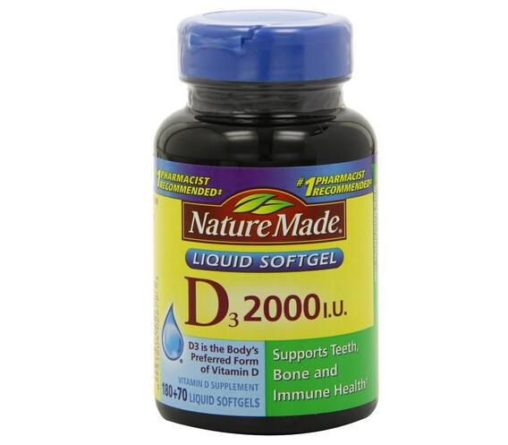 再降2刀可凑单!Nature Made 莱萃美液体维生素D3软胶囊2000IU*250粒