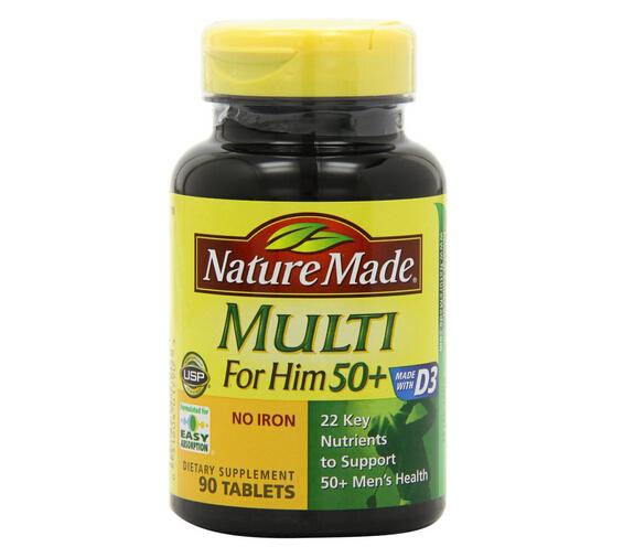 凑单小白菜,Nature Made 50岁以上男性综合维生素90粒
