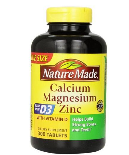 又降了白送价!Nature Made 莱萃美钙镁锌D3成人钙片300片