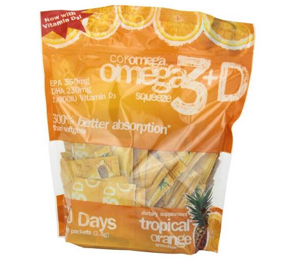 又降1刀!Coromega Omega3 热带水果味深海鱼油咀嚼包*120包