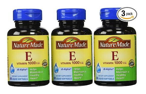手快有!Nature Made 莱萃美纯天然维生素E软胶囊60粒*3瓶