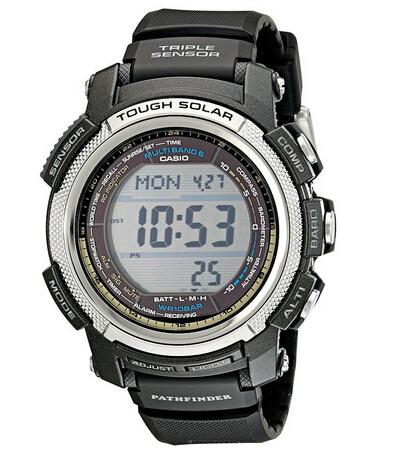 用券8折刷新低!CASIO PAW2000-1CR 卡西欧六局电波太阳能登山手表
