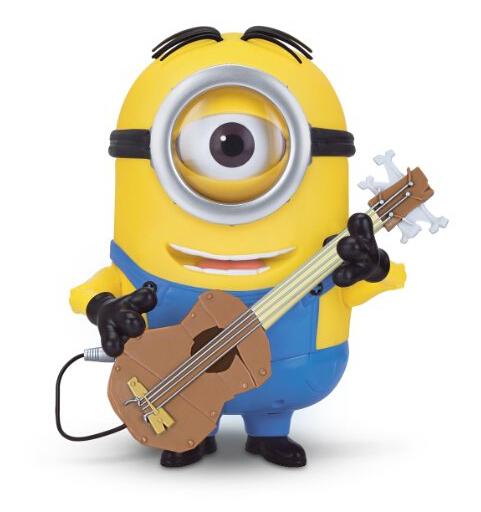 直邮最低价!Minions Stuart 卑鄙的我,抱着吉他的小黄人