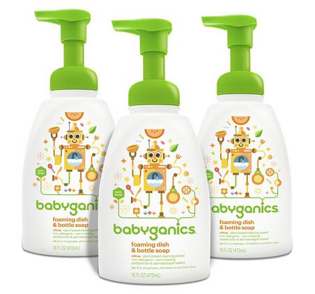 直邮超划算!Babyganics 全天然奶瓶餐具清洁剂473ml*3瓶装