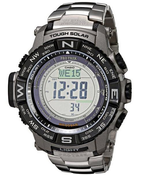 又降了,手快有!CASIO  PRW-3500T-7CR 卡西欧登山系列男士电波表