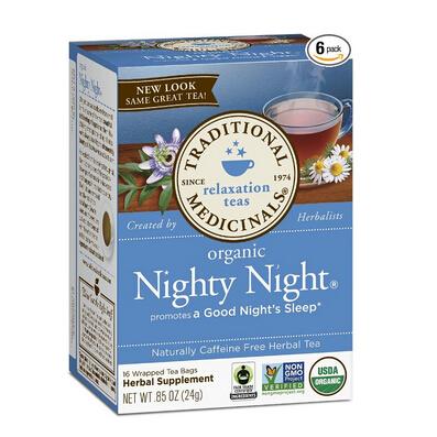 直邮低价!Traditional Medicinals 有机失眠舒缓茶 6盒*16包