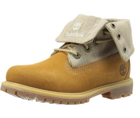 天木兰海淘:Timberland天木兰EK Authentics女士真皮短靴