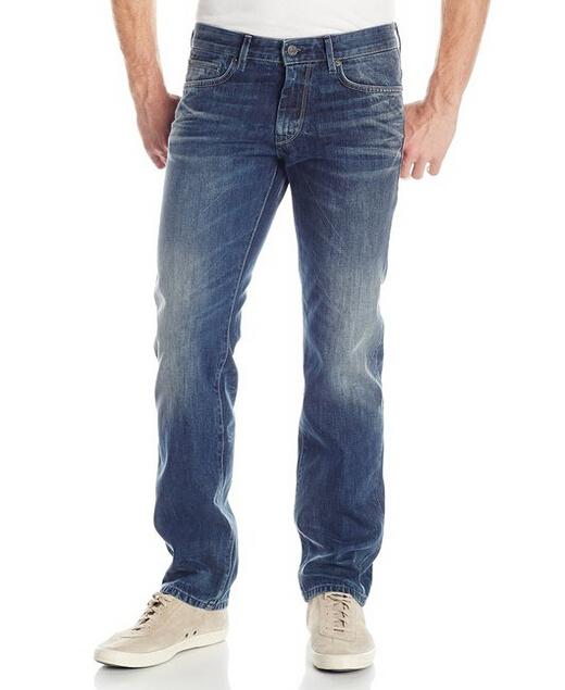 33码新低手快有!HUGO BOSS Orange 雨果博斯橙标男士直筒牛仔裤
