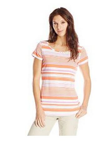 美亚直邮新低!Columbia 哥伦比亚 女士条纹短袖T恤