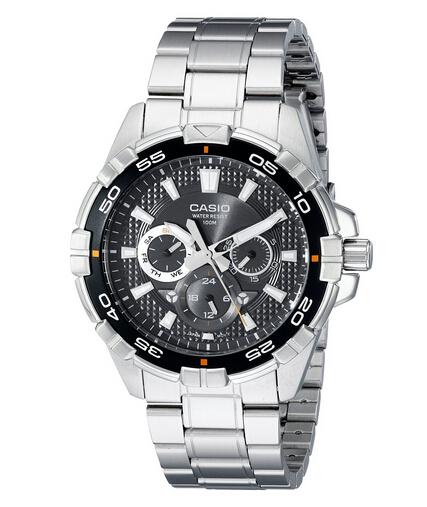 白菜,可叠加7折券!CASIO MTD-1069D-1AVDF 卡西欧男士不锈钢手表