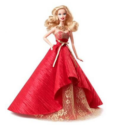 再降5刀!Barbie Collector 2014 Holiday Doll 芭比娃娃2014年节日收藏款