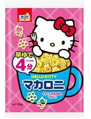 超cute辅食!宝宝面条NIPPN Hello Kitty形狀通心粉婴儿营养辅食150g×6个