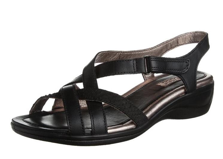 历史新低!ECCO 爱步 女士坡跟凉鞋