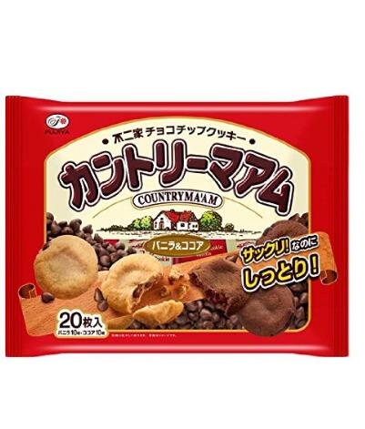 吃货必囤!不二家香草/巧克力粒夹心软曲奇 20枚×12袋
