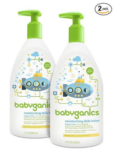 降至新低可直邮!BabyGanics 甘尼克宝宝儿童款保湿乳液502ml*2瓶