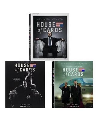 美亚直邮好价!《House of Cards: Seasons 1-3 Blu-ray Bundle》 纸牌屋蓝光合集(1-3季、全区)