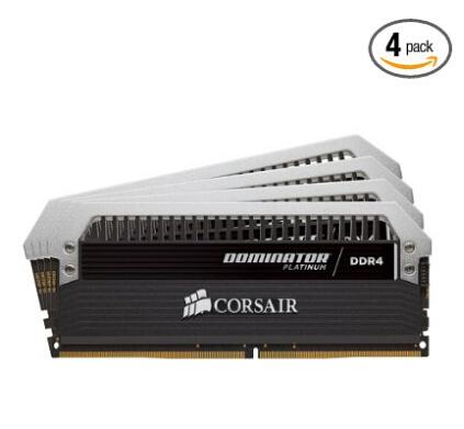 真土豪内存条!!CORSAIR 海盗船 统治者铂金 32GB(4x8G) DDR4 2400 内存条