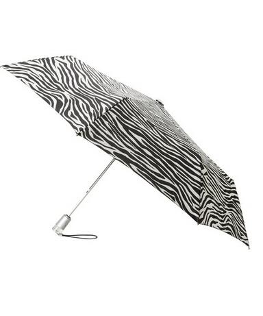 8折码好价!Totes 斑马纹自动折叠伞