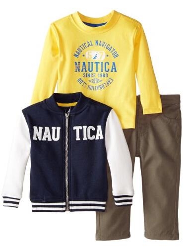 会员下单8折!Nautica诺帝卡男宝3件套