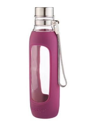 高颜值!紫色最低价可直邮!Contigo 康迪克玻璃运动水壶 590ml