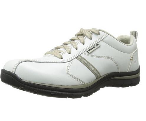 美亚直邮好价!Skechers斯凯奇Superior-Levoy男士牛津鞋 白色