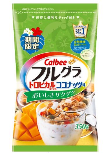 日亚好价!Calbee卡乐比 营养水果麦片限定版椰肉芒果350g