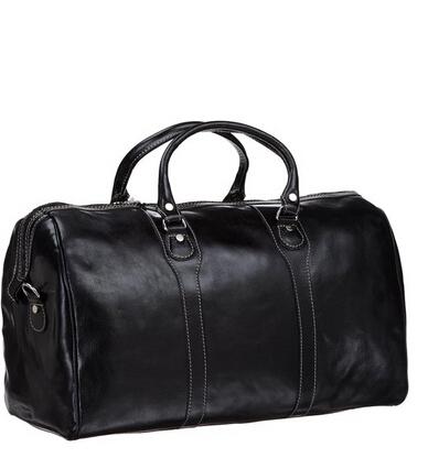 近期好价!Floto Luggage Milano Duffle 复古真皮旅行包(黑色)