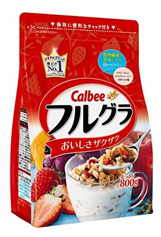 重回低价!Calbee卡乐比水果颗粒果仁谷物营养麦片800g