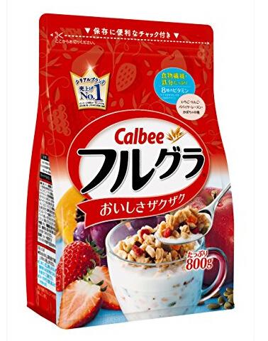 日亚好价!Calbee 卡乐比 水果颗粒果仁谷物营养麦片 800g