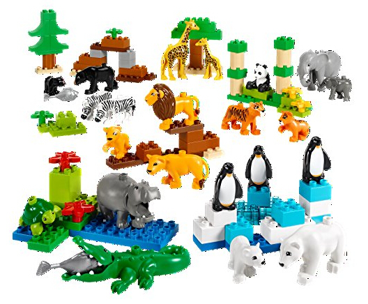 包含24种乐高得宝动物模型