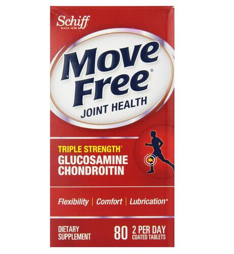 近期好价!美国 Schiff Move Free Advanced 红盒版三倍维骨力