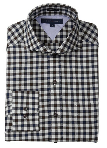 好价再来!Tommy Hilfiger Regular Fit Multi Gingham 男士衬衫